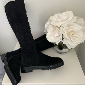 Black suede boots size 5.5